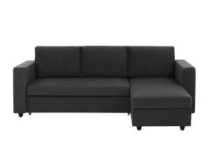 bäddsoffa med divan - divanbäddsoffa mörkgrå