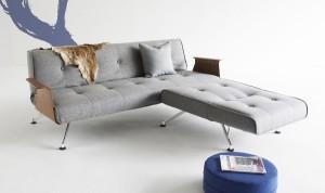 designer bäddsoffa med divan