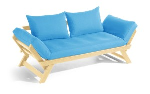 BeBop soffa – Natur/Azur blå