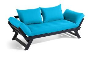 BeBop soffa – Svart/Azur blå