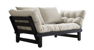 Beat soffa – Svart/Natur